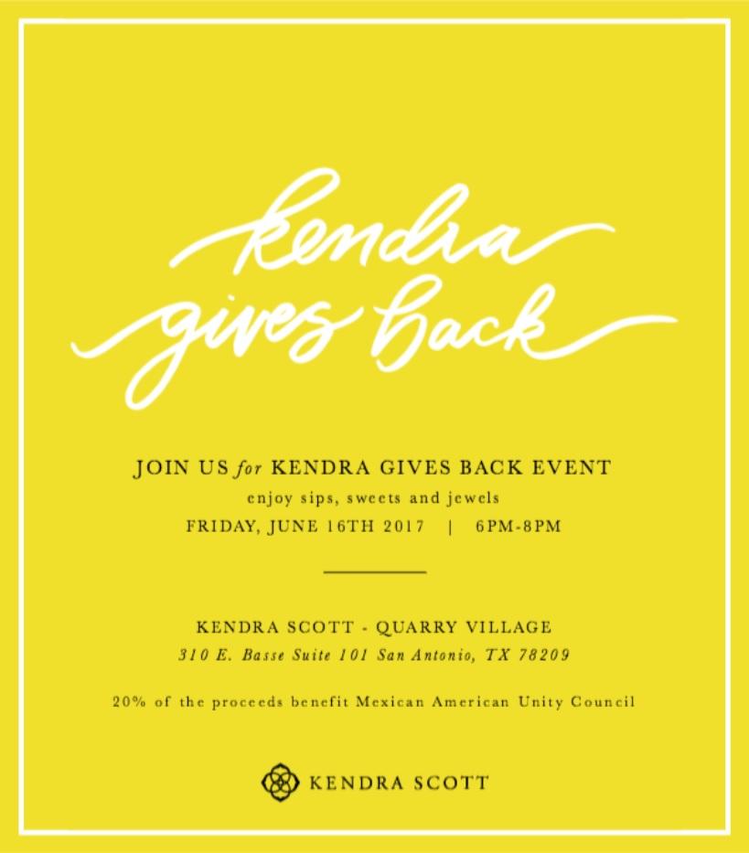 MAUC & Kendra Scott Give Back!