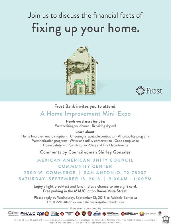 Frost-21340-San Antonio Home Improvement Expo-September 15 Flyer