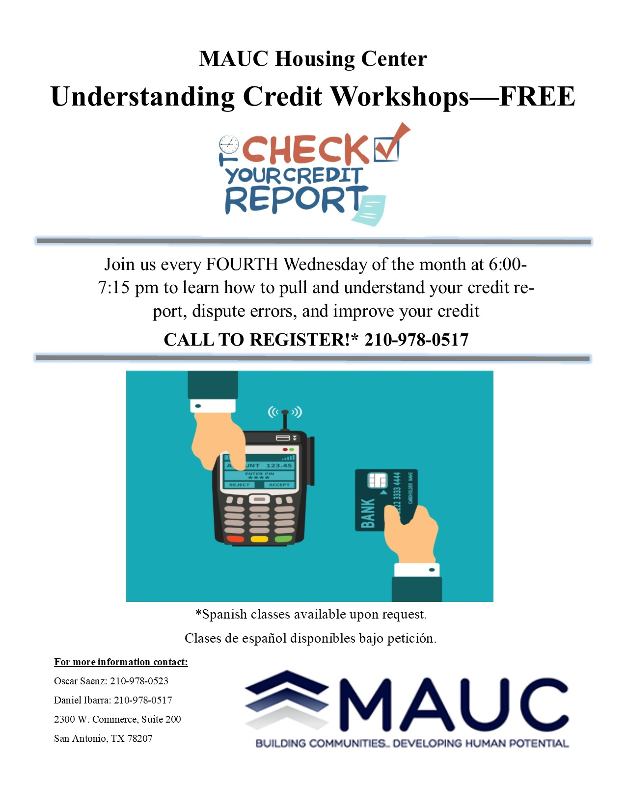 Credit Worshop Flyer